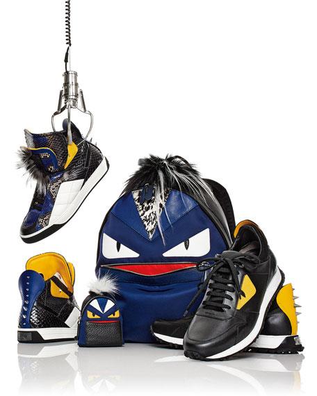 Monster Runner Spike-Back Leather Sneaker