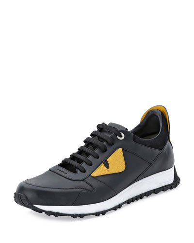 Monster Runner Spike-Back Leather Sneaker
