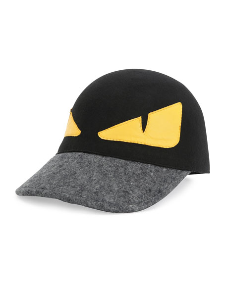 Fendi Monster Baseball Hat Black Yellow Neiman Marcus