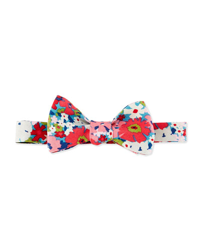 Floral Bow Tie, Pink Multi