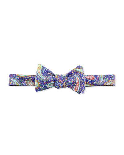 Paisley Bow Tie, Purple Multi