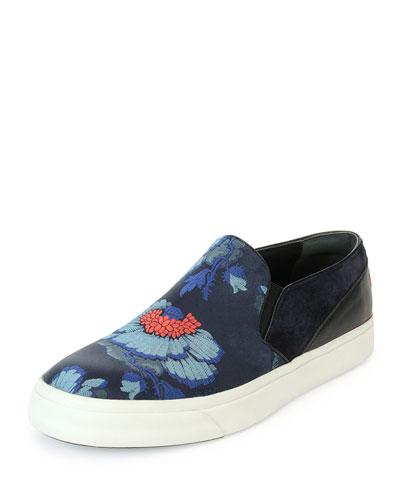 Floral-Print Skate Shoe, Blue