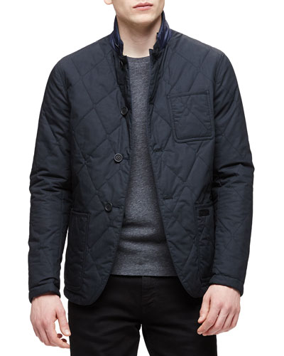 Reversible Quilted Jacket, Black/Navy