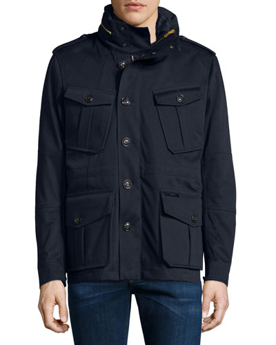 Sympson Button-Down Field Jacket, Navy