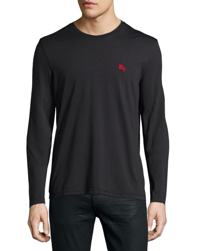 Newing Long-Sleeve Crewneck Shirt, Black