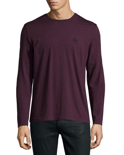 Newing Long-Sleeve Crewneck Shirt, Red