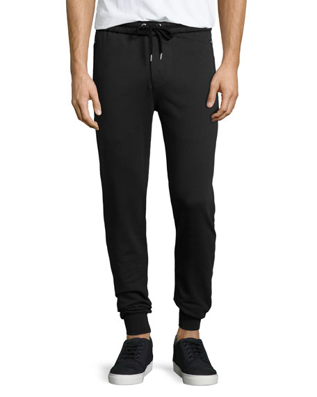 Burberry Haleford Knit Sweatpants, Black