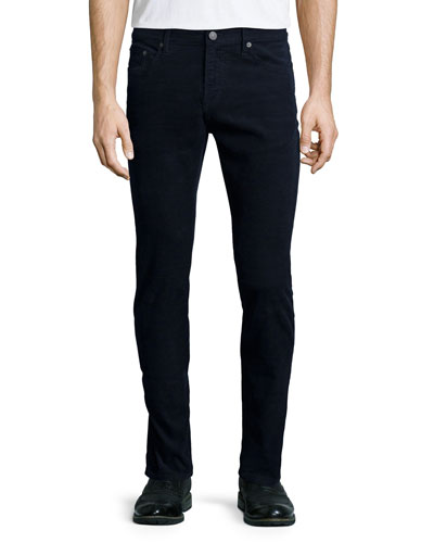 Five-Pocket Corduroy Pants, Navy