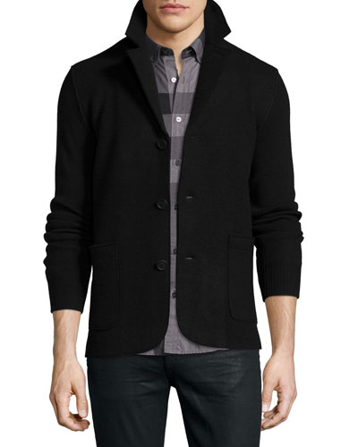 Bennet Deconstructed Button-Down Blazer, Black