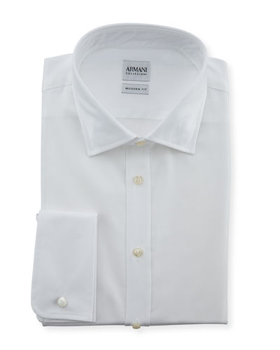 Modern Fit Poplin Dress Shirt, White