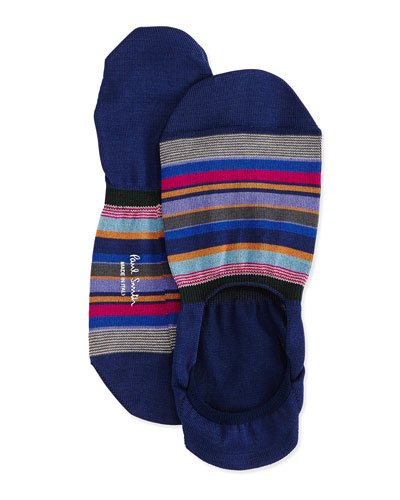 Bold Stripe Loafer Socks, Navy