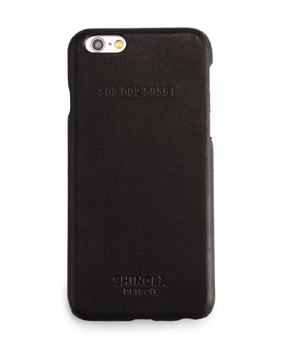 Leather-Wrapped iPhone 6 Case, Black
