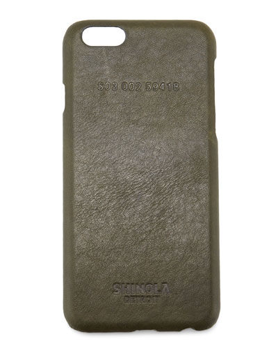 Leather-Wrapped iPhone 6 Case, Spruce