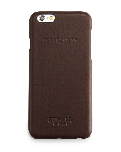 Leather-Wrapped iPhone 6 Case, Brown