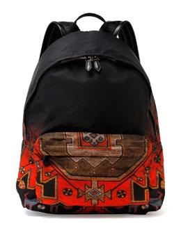 Ombre Rug-Print Nylon Backpack, Multi