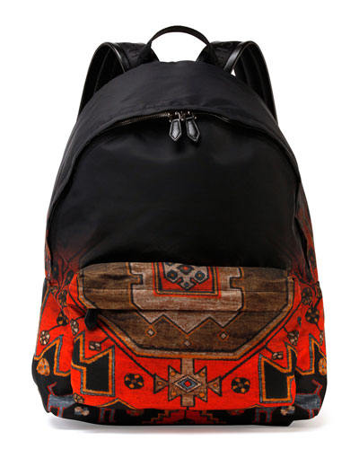 Ombre Rug-Print Nylon Backpack, Multi
