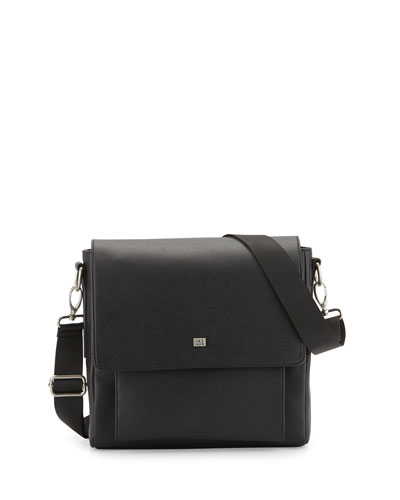 Small Messenger Bag, Black