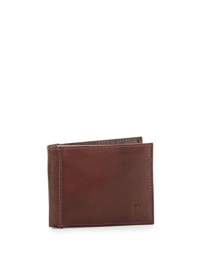 Leather Bi-Fold Wallet, Tan