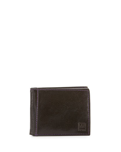 Leather Bi-Fold Wallet, Brown