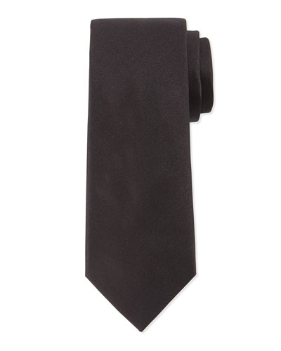 Solid Silk Tie, Black