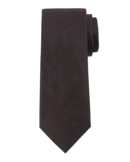 Lanvin Solid Silk Tie, Black