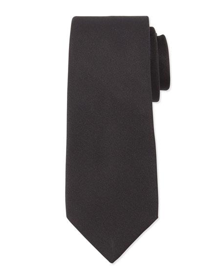 Grosgrain Solid Tie, Black