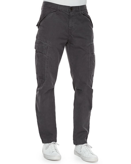 J Brand Collins Cargo-Pocket Utility Jogger Pants, Dark