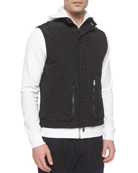 Michael Kors Suede Poplin Vest, Black