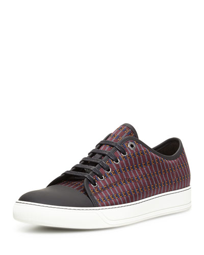 Jacquard Low-Top Sneaker, Burgundy