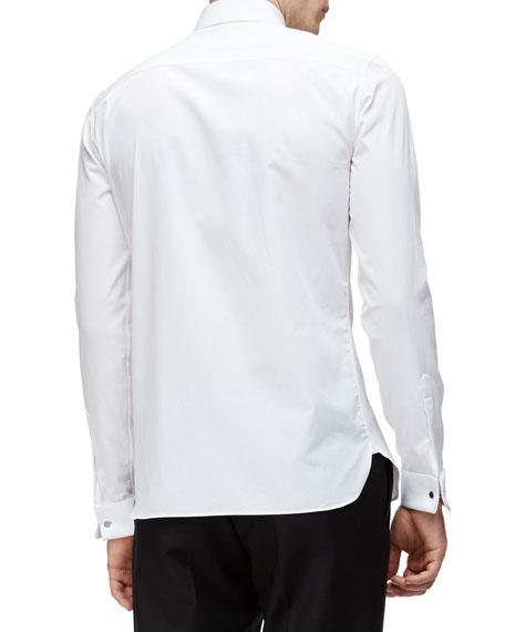 Burberry bib front french cuff tuxedo shirt white for Tuxedo shirt french cuff