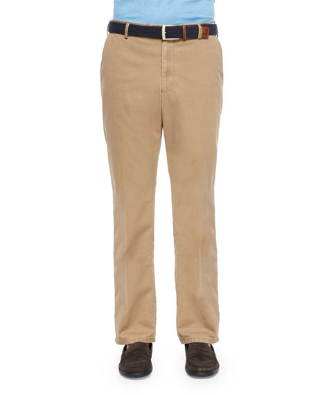 Peter Millar Raleigh Washed Twill Pants, Tan
