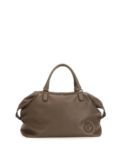 Slouchy Leather Duffel Bag, T Moro