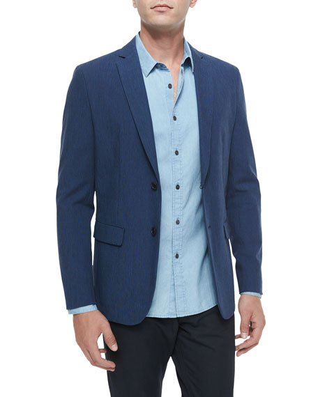 TheoryAndrew Two-Button Sport Coat, Blue