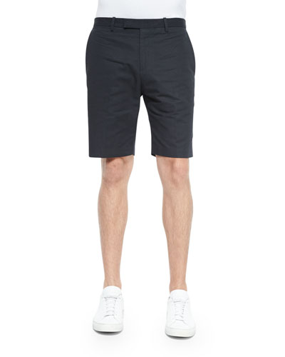 Woven Chino Shorts, Black
