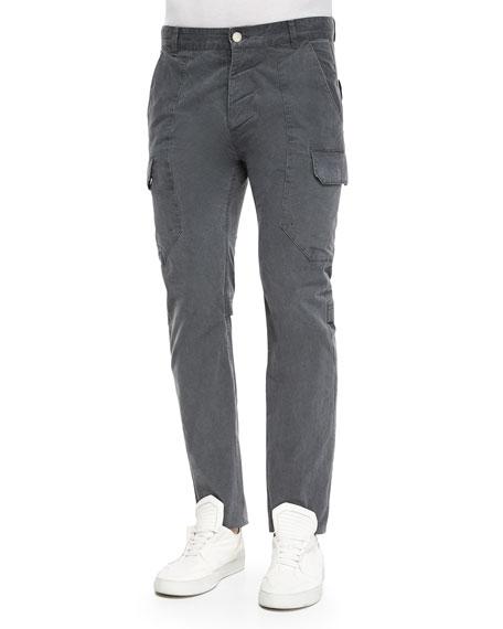 Helmut Lang Twill Cargo Pants, Dark Gray