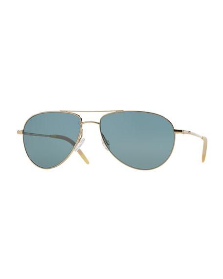 Oliver Peoples Benedict 59 Acetate Sunglasses, Gold