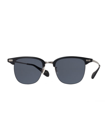 Oliver Peoples Executive I Half-Rim Sunglasses, Black