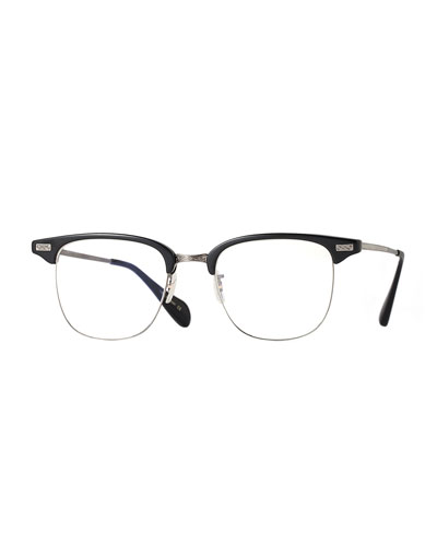 Executive I Half-Rim Fashion Glasses, Black