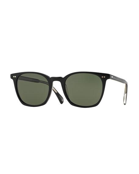 Oliver Peoples L.A. Coen Acetate Sunglasses, Black