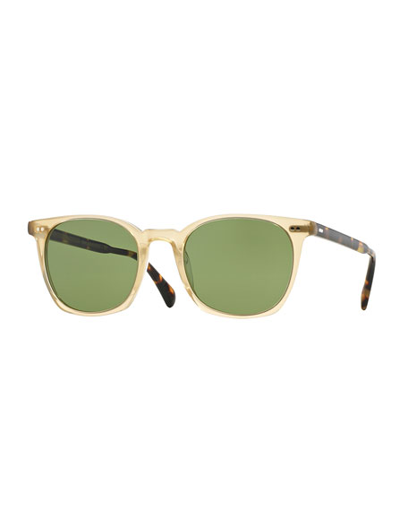 Oliver Peoples L.A. Coen 49 Sunglasses, Light Beige