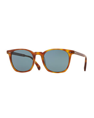L.A. Coen 49 Acetate Sunglasses, Light Brown