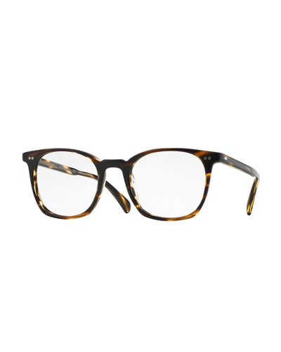L.A. Coen 49 Square Fashion Glasses, Light Brown