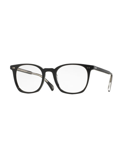 L.A. Coen 49mm Fashion Glasses, Black