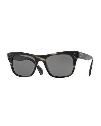 Jack Huston 52 Sunglasses, Semi-Matte Ebonywood