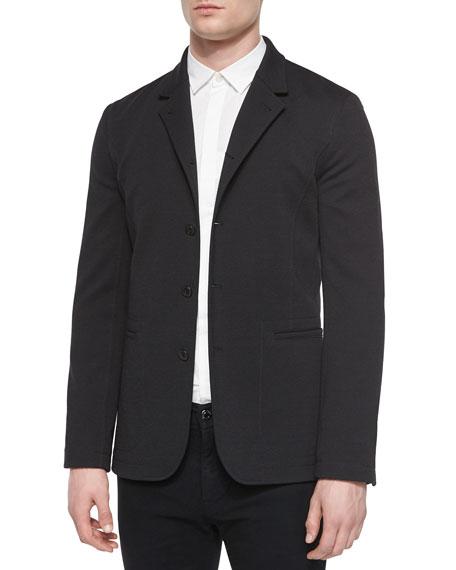 Helmut Lang Convertible Knit Blazer, Black