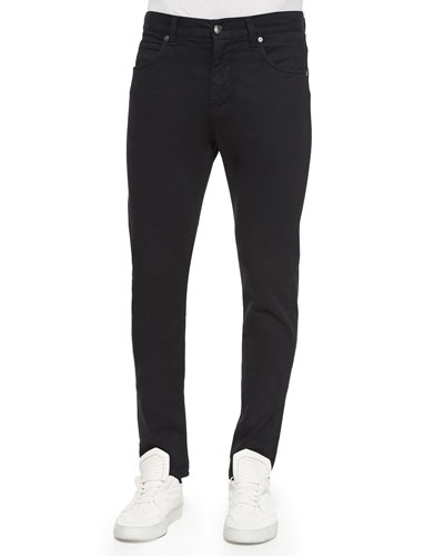 Basic Wash Skinny Denim Jeans, Black
