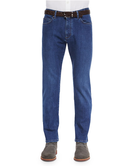 Ermenegildo Zegna Slim Fit Stretch-Denim Jeans, Blue