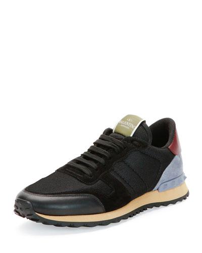 Rockrunner Mesh Sneaker, Black