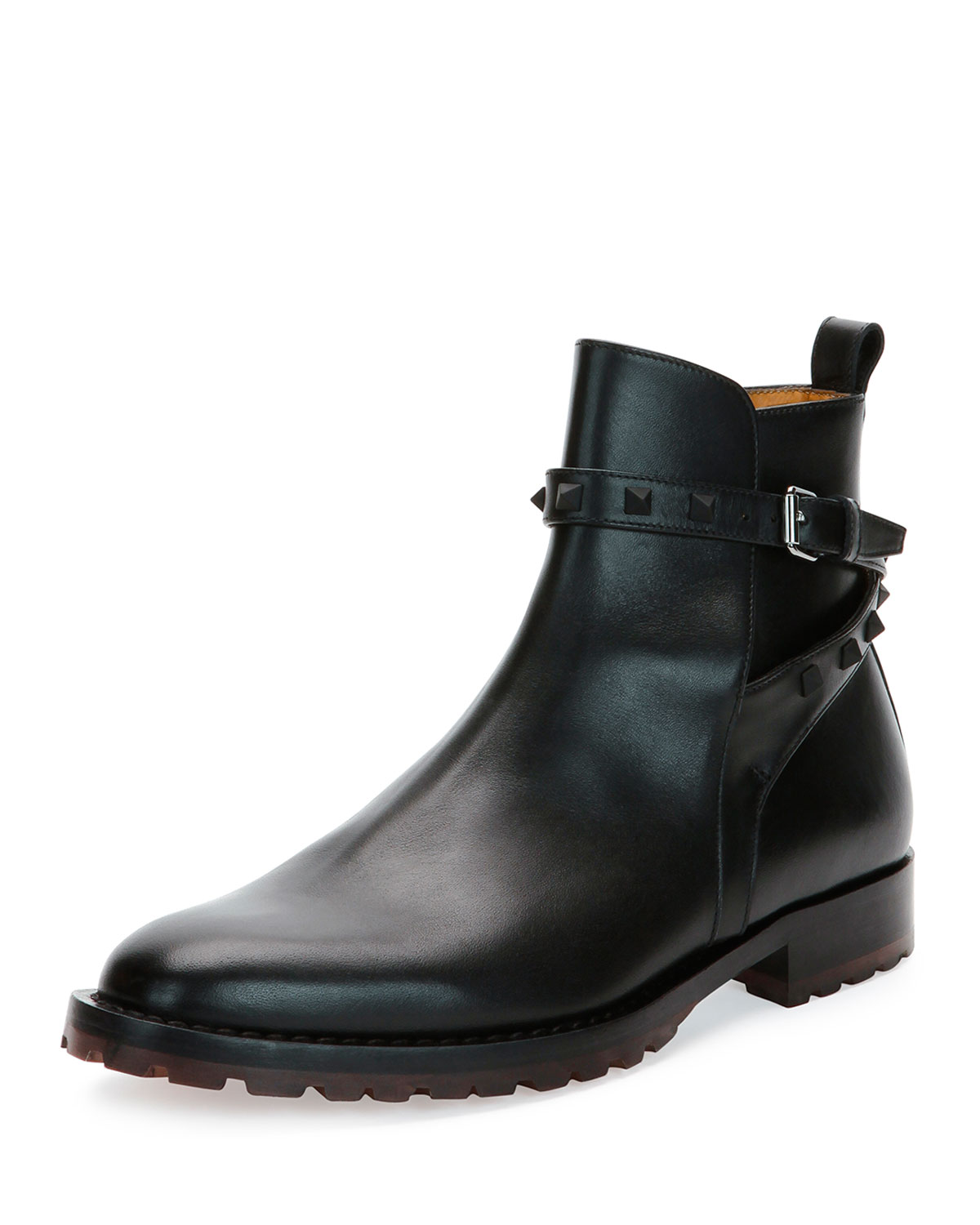d19d6008c8d1 Valentino Rockstud Leather Chelsea Boots