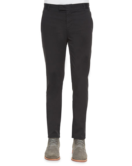 J Brand Jeans Brooks Slim-Fit Chino Trousers, Black